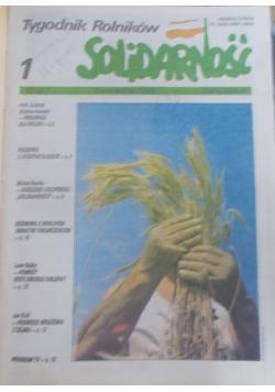 Tygodnik Rolników SOLIDARNOŚĆ numery od 1-18z roku 1989 i od 1-50 z roku 1990.
