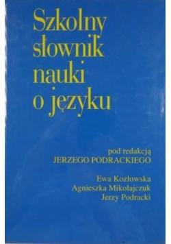 Szkolny słownik nauki o języku
