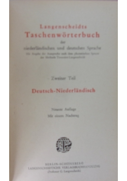 Langenscheidts Taschenworterbuch,1918r.
