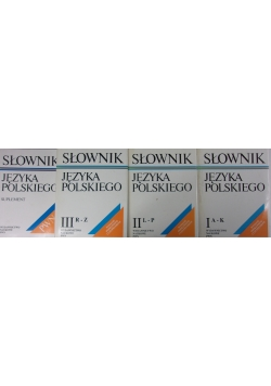 Słownik Języka Polskiego , Tom I - III + Suplement
