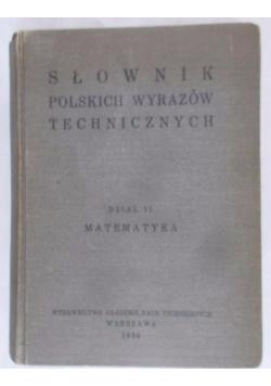 Słownik polskich wyrazów technicznych, dział 11, 1936 r.