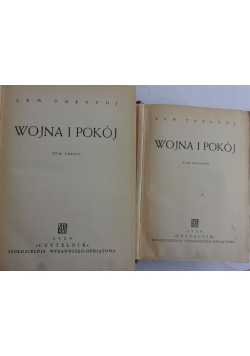 Wojna i pokój, tom 1 i 3, 1950 r.