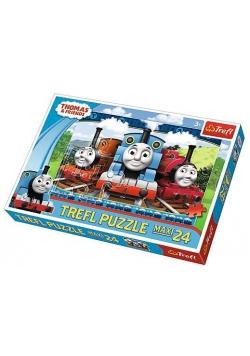 Puzzle 24 maxi Wesołe lokomotywy TREFL