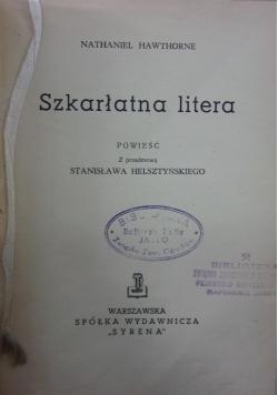 Szkarłatna litera ,1947r.
