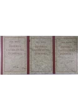 Historia i literatura Żydowska, Tom I-III, Reprint z 1925