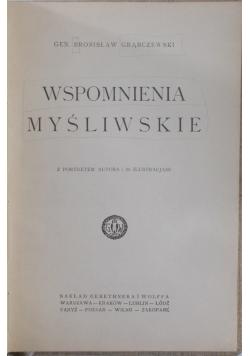 Wspomnienia myśliwskie, 1925 r.