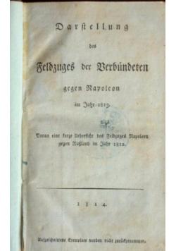 Darstellung des Feldzuges der Verbündeten gegen Napoleon, 1814 r.
