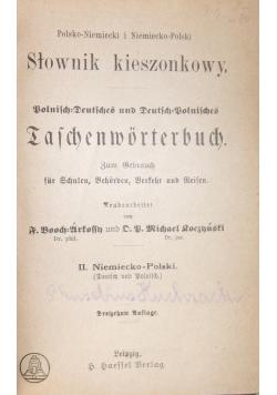 Słownik kieszonkowy , polsko-niemiecki, 1890 r.