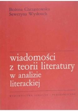 Wiadomości z teorii literatury w analizie literackiej