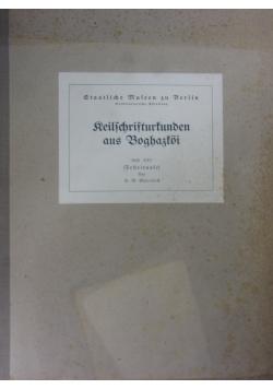 Reilschrifturtunden aus Boghaztoi,1930r.