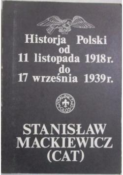 Historja Polski od 11 listopada 1918 r. do 17 września 1939 r.