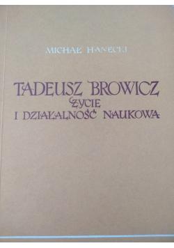 Tadeusz Browicz. Życie i działalność naukowa