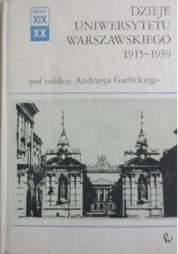 Dzieje Uniwersytetu Warszawskiego 1915-1939