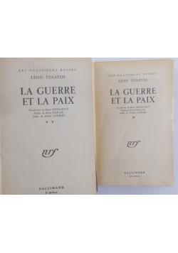 La Guerre et la paix, T. I,II, 1947 r.