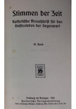Stimmen der Zeit. Katholische Monatsschrift für das geistesleben der Gegenwart, 1916 r.