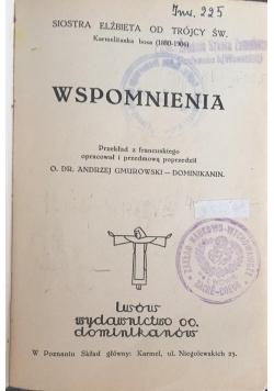 Wspomnienia, 1932 r.