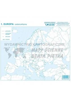 Zestaw - Eurpa mapa konturowa (20szt)