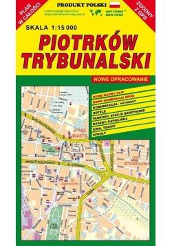 Piotrków Trybunalski 1:15 000 plan miasta PIĘTKA
