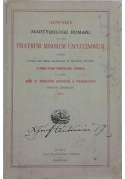 Appendix fratrum minorum capuccinorum, 1924r.