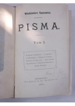 Pisma. Tom I, 1892 r.