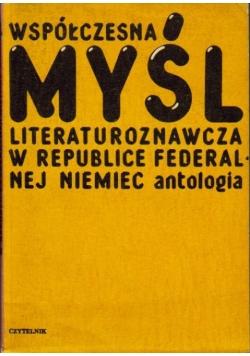 Współczesna myśl literaturoznawcza w republice federalnej Niemiec antologia