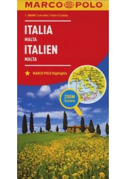 Mapa ZOOM System.Italia,Malta plan miasta