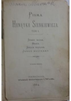 Pisma Tom I, 1884 r.