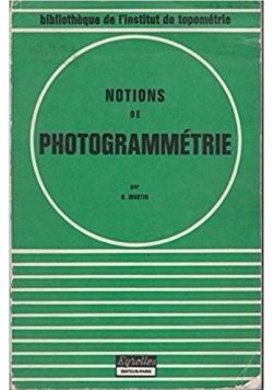 Notions de photogrammetrie