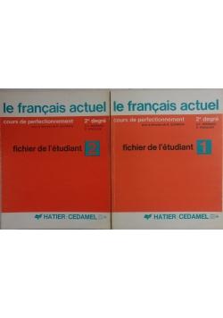 Le francais actuel fichier de l'etudiant, tom 1 - 2