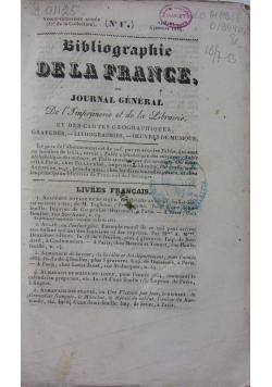 Bibliographie De La France, 1834