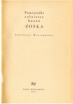Pamiętniki żołnierzy baonu Zośka. Powstanie Warszawskie