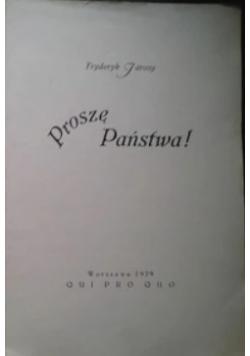 Proszę państwa!, 1929r.