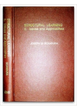 Structural learning II , issues and approaches