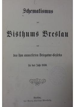 Schematismus des bisthums breslau, 1859r.