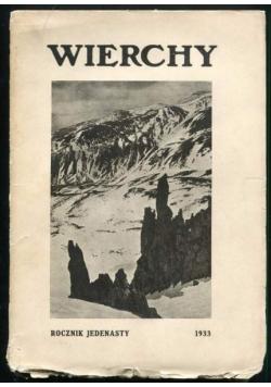 Wierchy rocznik jedenasty, 1933 r.