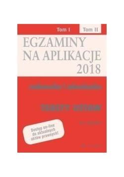 Egazminy na aplikacje 2018 Radcowska i adwok. T.2