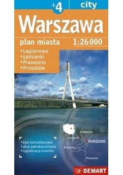 Plan miasta Warszawa +4 1:26 000 DEMART