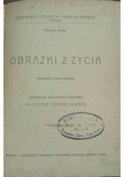 Obrazki z życia, 1903 r.