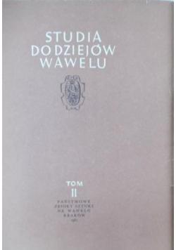 Studia do dziejów Wawelu, Tom II