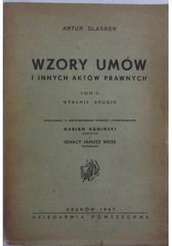 Wzory umów i innych aktów prawnych, 1947r