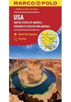 Mapy kontynentalne USA 1:4 000 000 MARCO POLO