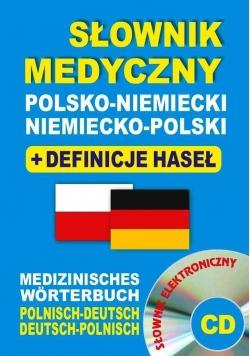Słownik medyczny pol-niem, niem-pol + defin. + CD