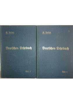 Deutfches lehrbuch, 2 książki, 1916r