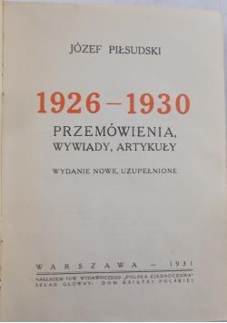 Przemówienia , wywiady, artykuły, 1931 r.