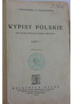 Wypisy Polskie, 1926 r.