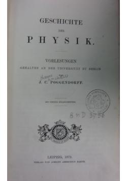 Geschichte der physik,1879r.