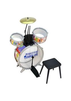 Toy Band Rock Drummer Perkusja z krzesełkiem