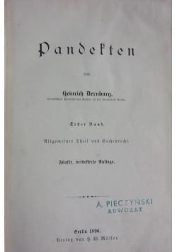 Pandekten,1896r.
