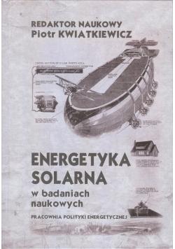 Energetyka solarna w badanich naukowych