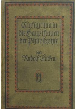 Cinfuhrung in die Brilofoqhie, 1925r.